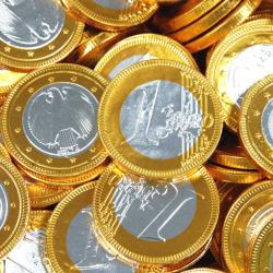 Gold Chocolate Euro Coins