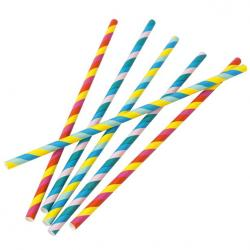 Rainbow Paper Straws - (30pk)