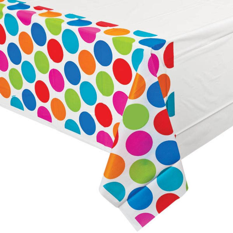 Cabana Dots Tablecover Plastic Party Table Cover
