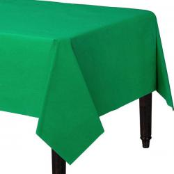 Green Plastic Tablecover - 1.4m x 2.8m