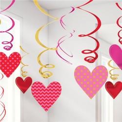 Valentines Hanging Swirls