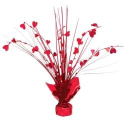 Valentines Heart Spray Centrepiece Decoration - 30cm