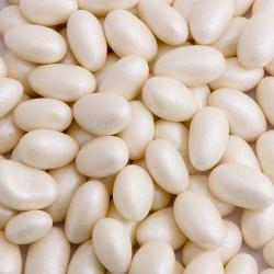 Ivory Pearlised Sugared Almonds – 1kg