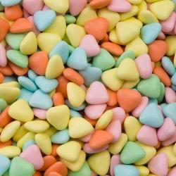 Multi-Colour Mini Hearts Chocolate Dragées - 1KG