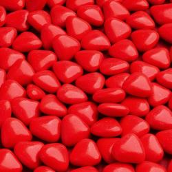 Red Mini Heart Chocolate Dragées - 1KG