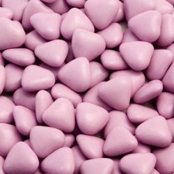 Lilac Mini Heart Chocolate Dragées - 1KG