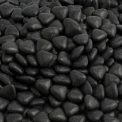 Black Mini Hearts Chocolate Dragées - 1KG