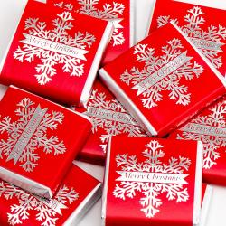 Snowflake – Red & Silver Neapolitans - 100 Pack