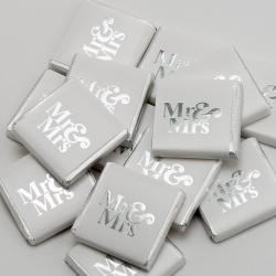 Mr & Mrs Neapolitans - Silver - 100 Pack
