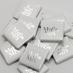 Mr & Mrs Neapolitans - Silver - 100 Pack