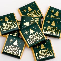 Merry Christmas – Green & Gold Neapolitans - 100 Pack