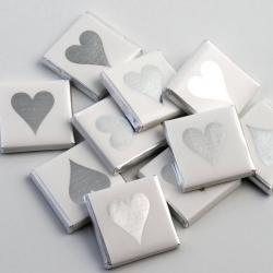 Silver Heart Chocolate Neapolitans - 100 Pack