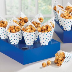 Blue Snack Cones with Tray